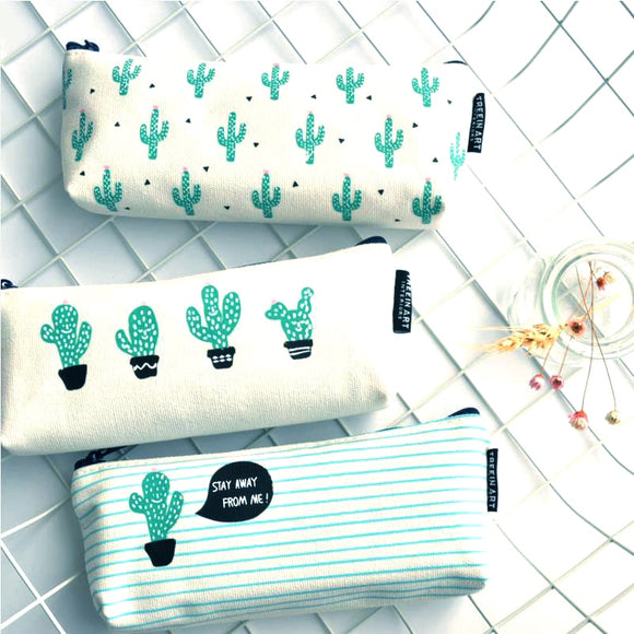 Cactus Pencil Case Canvas