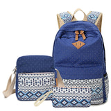 Canvas School bags Set