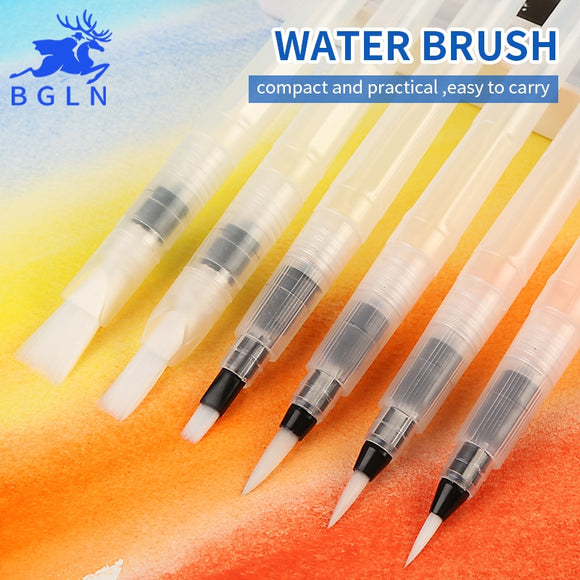 Large Capacity Barrel Water Paint Brush Sets