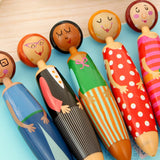 5 pcs Lovely Doll ballpoint pens
