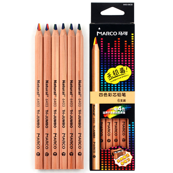 4 Colors Tip Colour Pencil