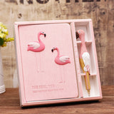 Flamingo Diary Notebook Set