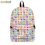 1 pce School Backpacks, 10 different designs.