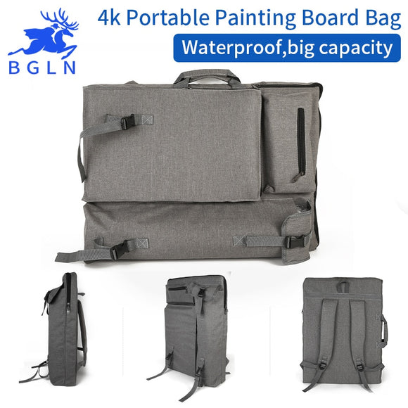 Light Grey Waterproof Sketch Painting Portfolio travel bag