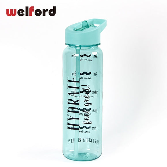750ml Sports Water Bottle With Straw