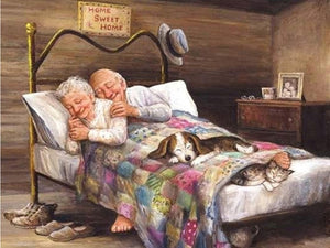Full couple sleeping diamond painting