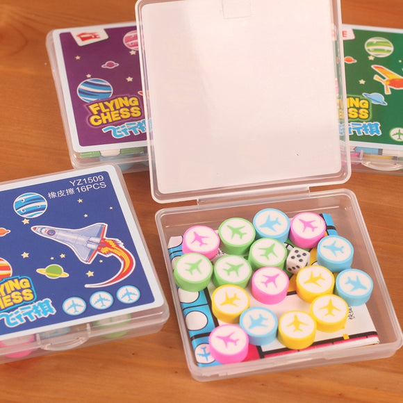 cartoon boxed flight chess eraser set