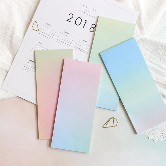 4 pcs Gradual change colour sticky note
