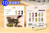 Number and Letter Transparent Sticker