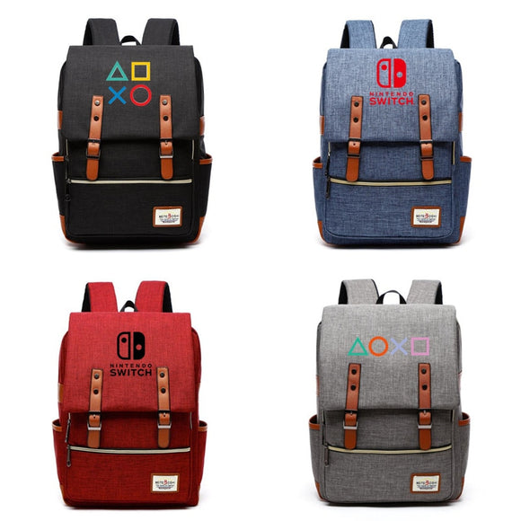 Playstation, Nintendo Switch Canvas Backpack