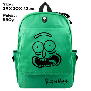Rick and Morty Pickle Rick canvas backpack