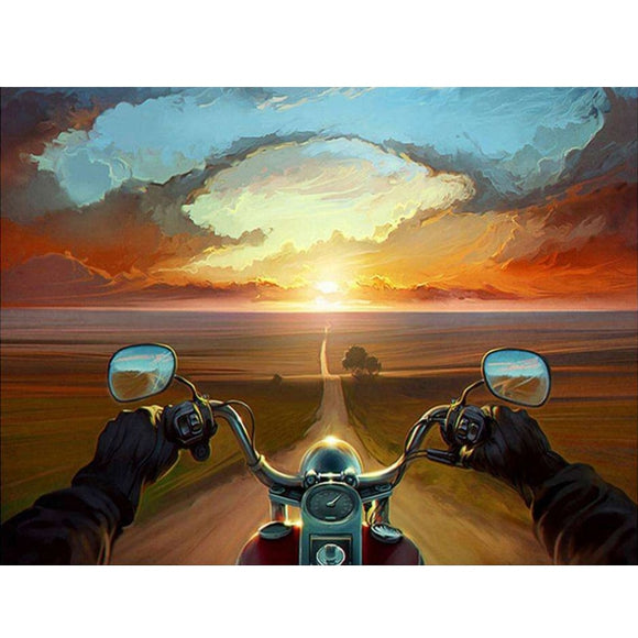 Motorbike Rider full diamond painting