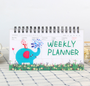 weekly planner Mini spiral notebook