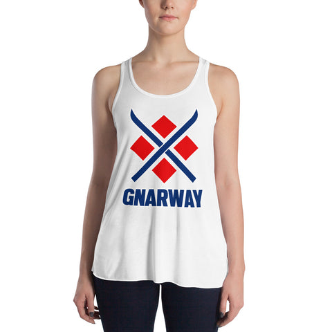 Ski GNARWAY Women's Racerback Tank Top