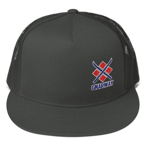 GNARWAY Embroidered Flat Bill Trucker Cap