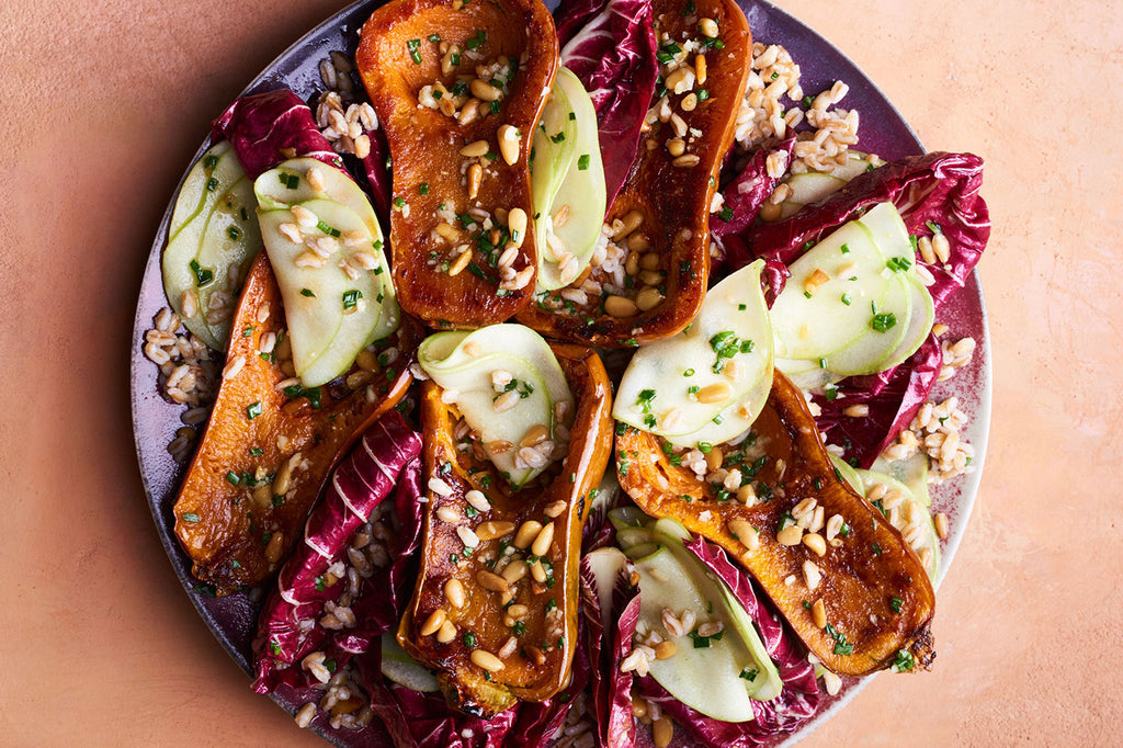 Honeynut Squash with Radicchio & Miso