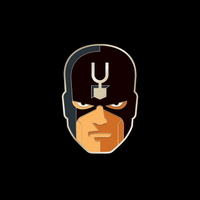 BLACK BOLT enamel pin
