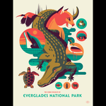 ICONIC WILDLIFE OF EVERGLADES screenprint