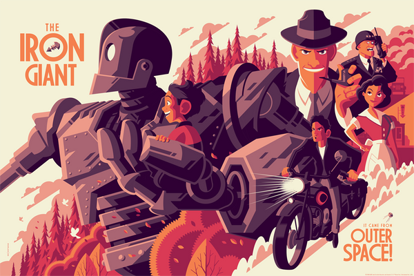 THE IRON GIANT regular edition screenprint