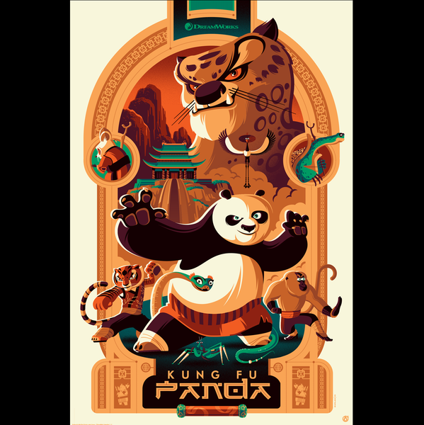 KUNG FU PANDA regular edition screenprint