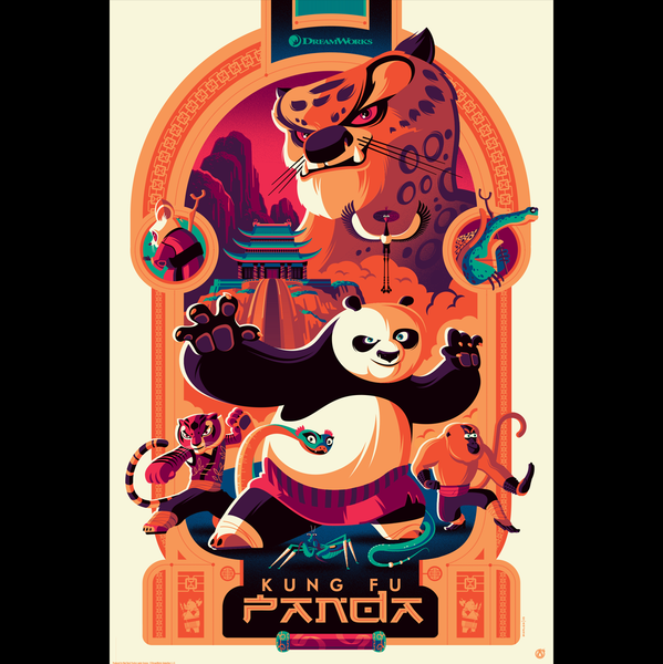 KUNG FU PANDA variant edition screenprint