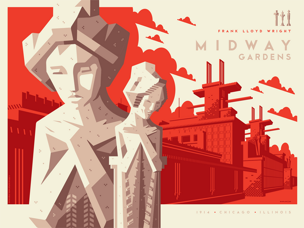 MIDWAY GARDENS regular edition screenprint