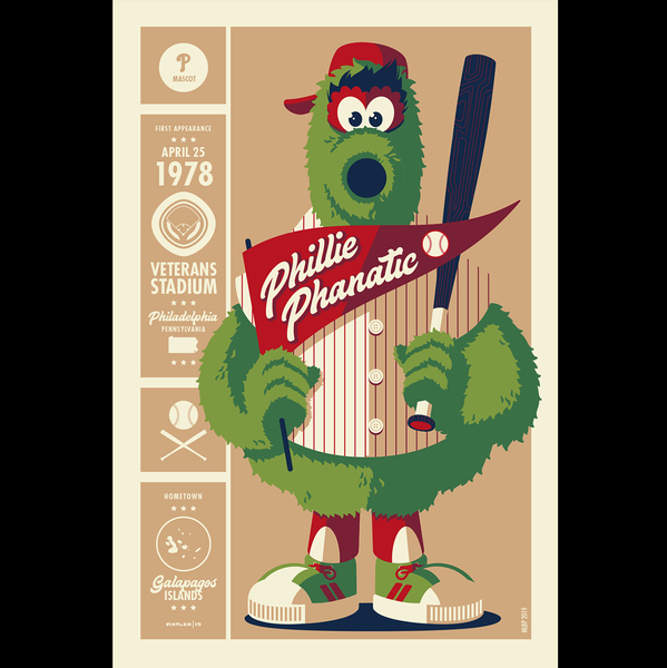 PHILLIE PHANATIC screenprint