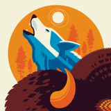 ICONIC WILDLIFE OF YELLOWSTONE screenprint