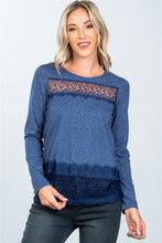 Load image into Gallery viewer, Boho lace-panel and hem top