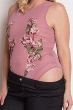 Load image into Gallery viewer, Floral Embroidery Mesh Bodysuit