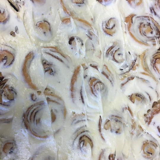 Cinnamon Buns with Real Cream Cheese Frosting