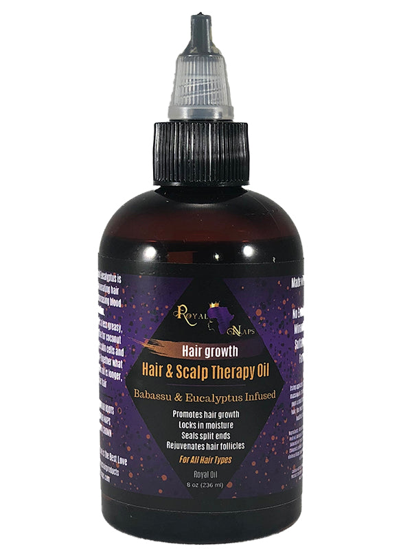 Babassu & Eucalyptus Infused Hair & Scalp Therapy Oil 4oz