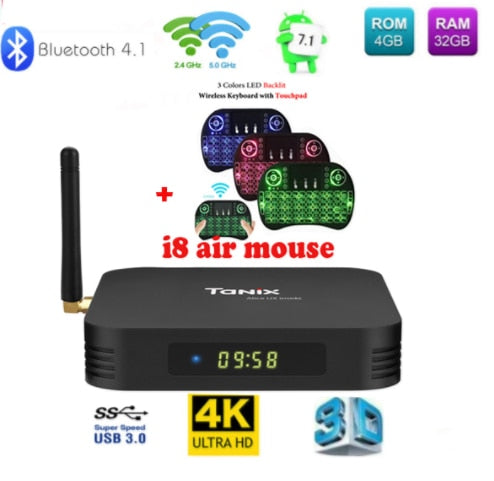 PAMElectronics Tanix TX6 TV Box android 9 Allwinner H6 4GB DDR3 32GB/64GB  EMMC 2 4GHz 5GHz WiFi BT4 1 Support 4K H 265 Bluetooth 4 0 WIFI
