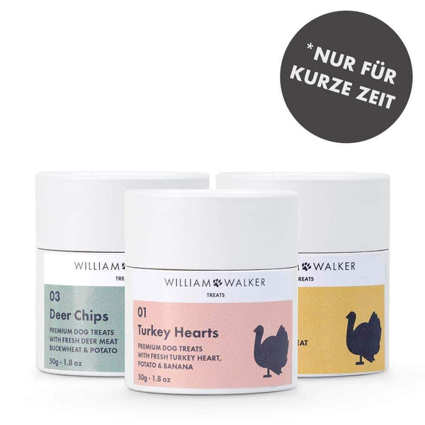 William Walker Premium Hundekeks Mix 3er Pack Probiergröße