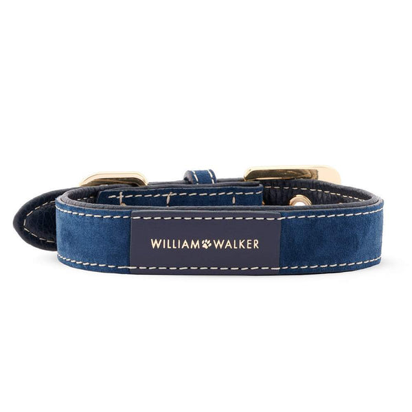 William Walker Leder Hundehalsband Midnight