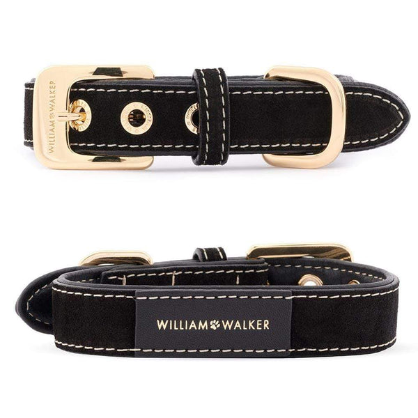 William Walker Royal Black // Halsband & Leine Set + Kostenloser Kotbeutelspender