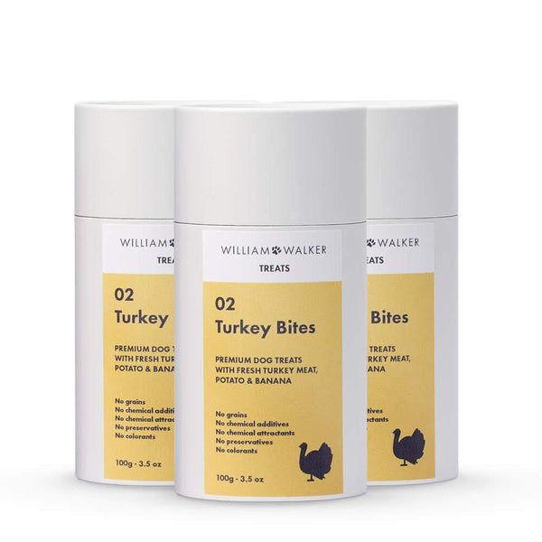 William Walker Premium Hundekeks Turkey Bites (3er Pack)