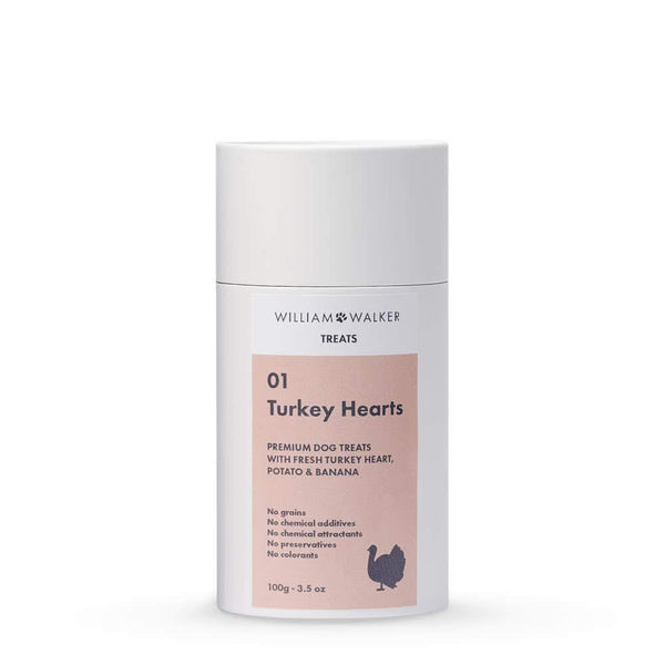 William Walker Premium Hundekeks Turkey Hearts