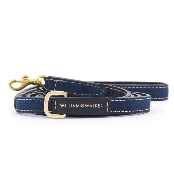 William Walker Kleine City Leder Hundeleine Midnight