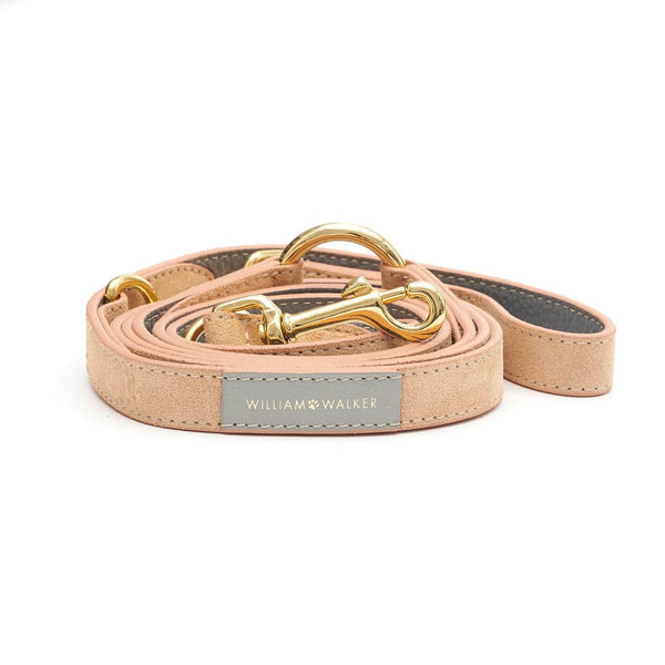 Leather Dog Leash Coral x Sea Salt // Limited