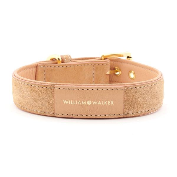 Leather Dog Collar Coral
