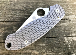 Titanium Hexi Scales for Spyderco Para 3 - Gray Blasted