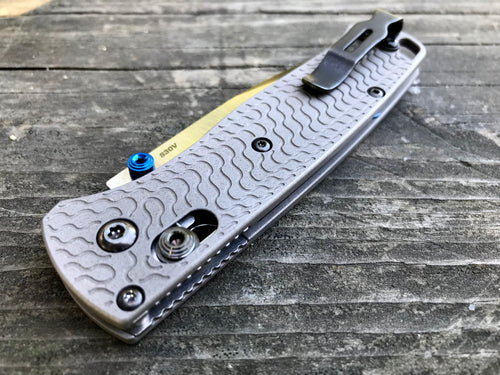 Titanium Critter Scales for Benchmade Bugout 535 - Aluminum Blasted