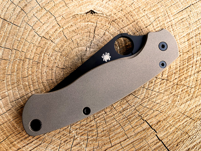 Titanium Scales for Spyderco PM2