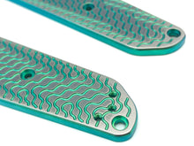 Titanium Critter Scales for Benchmade Osborne 940 Series - Green Anodize