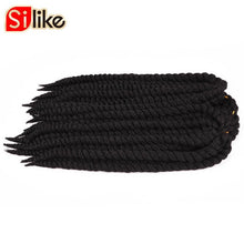 "Load image into Gallery viewer, 12 Roots Afro Fat Havana Twist Crochet Braids 14"" 18"" 22"" Grey Hair Extensions Crotchet Braiding Hair 80g 1 pack by Silike"