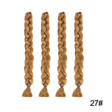 Load image into Gallery viewer, Braiding Hair Wig Long Hairpiece Synthetic Fibres Pure Color Braid Hair Extensions