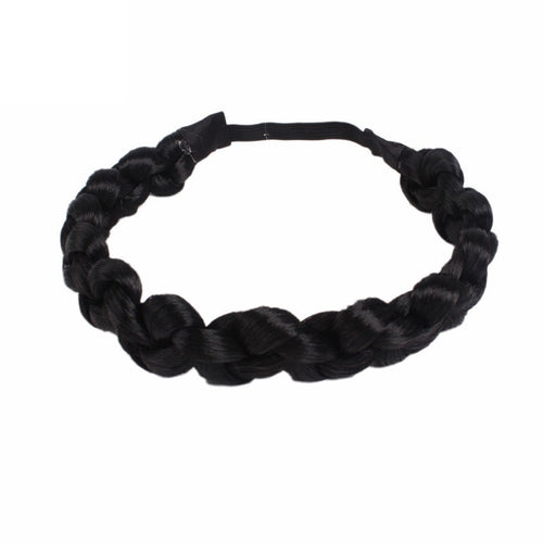 Vintage Twisted Wig Headband Women Wedding Hair Bands Hairband Plaited Braided Hair Accessories