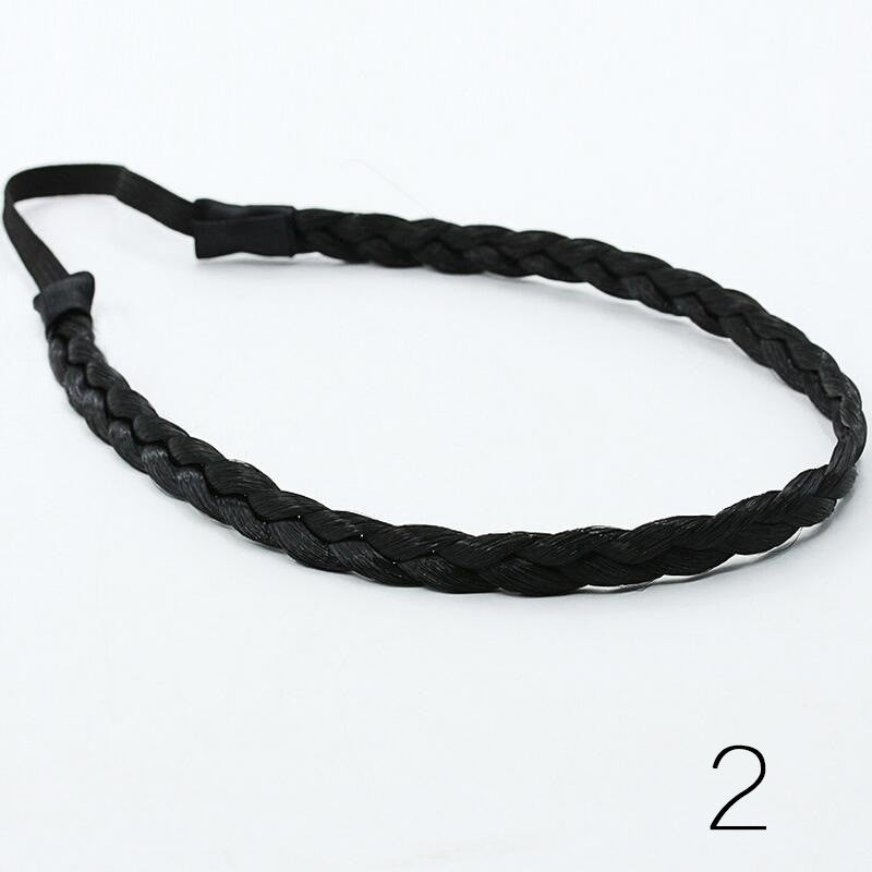 Fashion Wigs Small Braids Hair Hoop Stretch Twist Braided Headband Europe and United States Popular Princess Hair Band