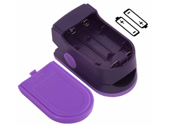 Zacurate 500D Deluxe Pro Series Purple Pulse Oximeter Battery Orientation